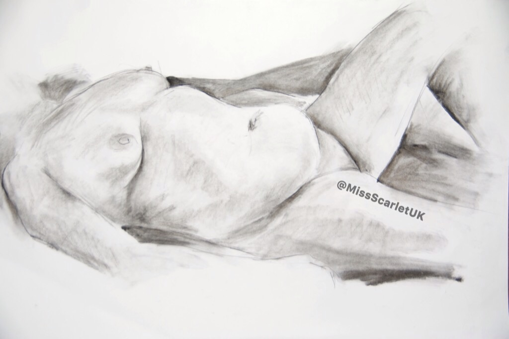 Sexy life drawing of sexy woman