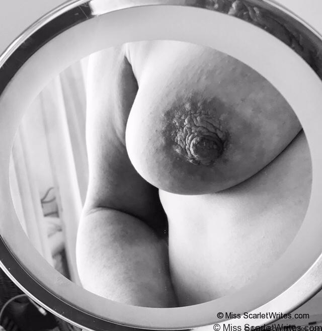 mirror reflection of breast